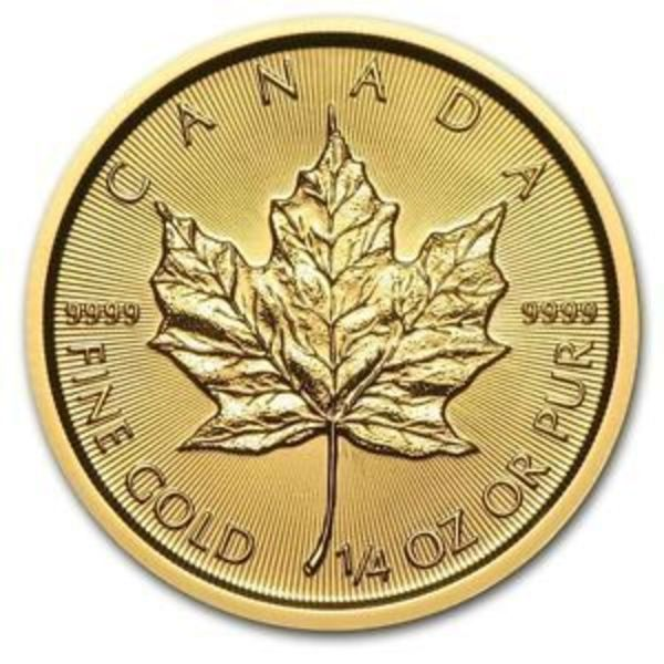 Compare gold prices of 2018 1/4 oz Canadian Gold Maple Leaf $10 Coin .9999 Fine