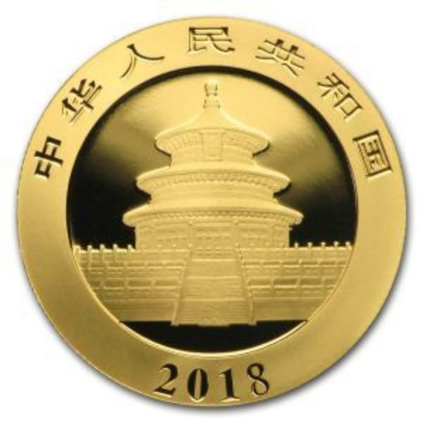2018 China 30 Gram Gold Panda Coin