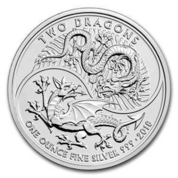 Compare cheapest prices of 2018 Great Britain 1 oz Silver Two Dragons