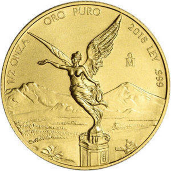 Compare 2018 Mexico 1/2 oz Gold Libertad prices