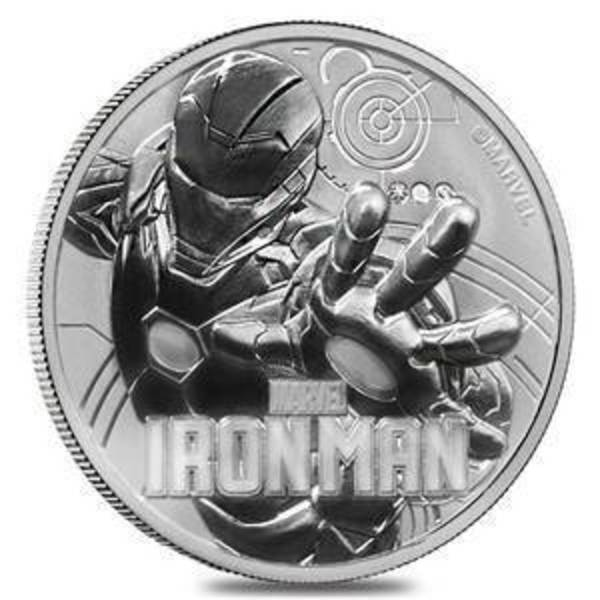 Compare silver prices of 2018 1 oz Tuvalu Ironman Marvel Series Silver Coin
