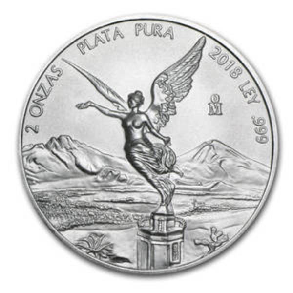 Compare 2018 Mexico 2 oz Silver Libertad prices