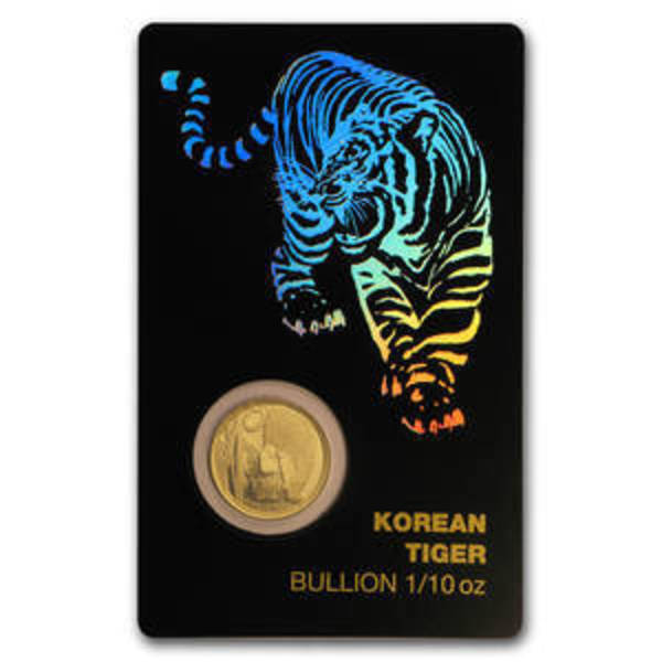 Compare gold prices of 2018 South Korea 1/10 oz Gold Tiger