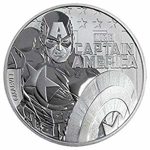 Compare cheapest prices of 2019 1 oz Tuvalu Captain America Marvel Series Silver Coin