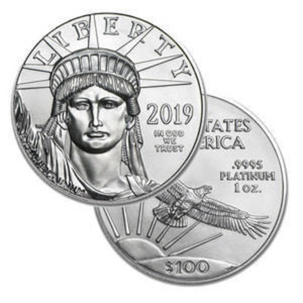 Compare platinum prices of 2019 1 oz Platinum American Eagle