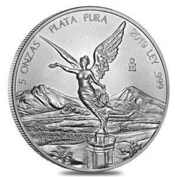 Compare 2019 Mexico Libertad 5 oz Silver  prices