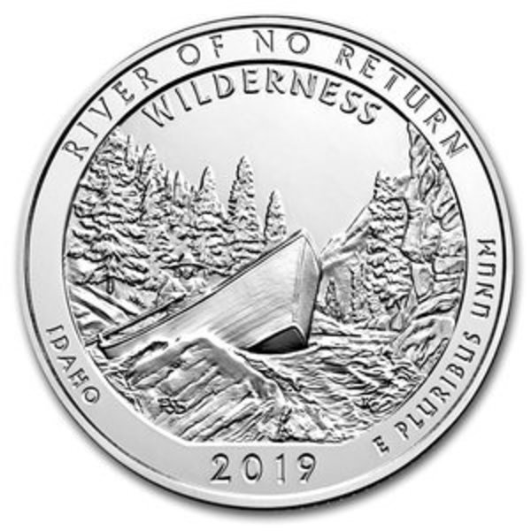 Compare 2019 ATB Frank Church River of No Return 5 oz Silver Coin prices