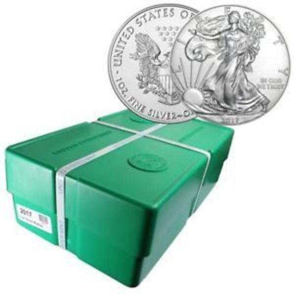 Compare silver prices of 2019 American Silver Eagle Monster Box of 500 Coins