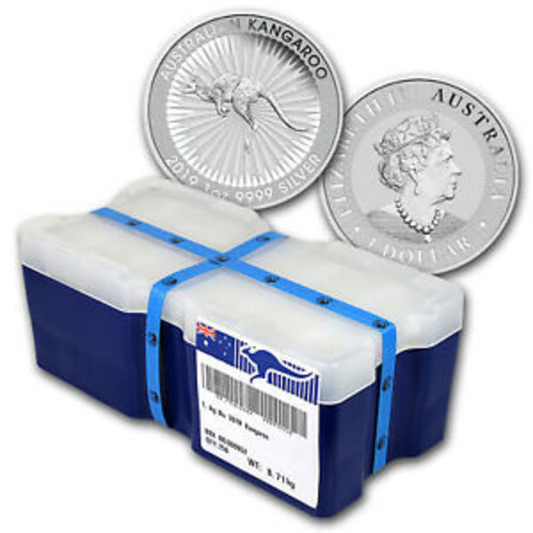 Compare silver prices of 2019 Australian 1 oz Silver Kangaroo Mini Monster Box (250 Coins)