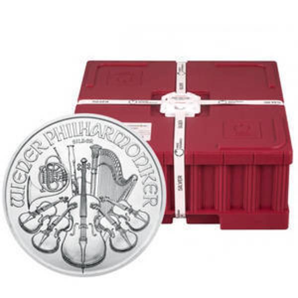 Compare silver prices of 2019 Austrian Silver Philharmonic Monster Box (500 Coins, BU)