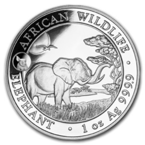 Compare silver prices of 2019 1 oz Somalia Silver Elephant Coin