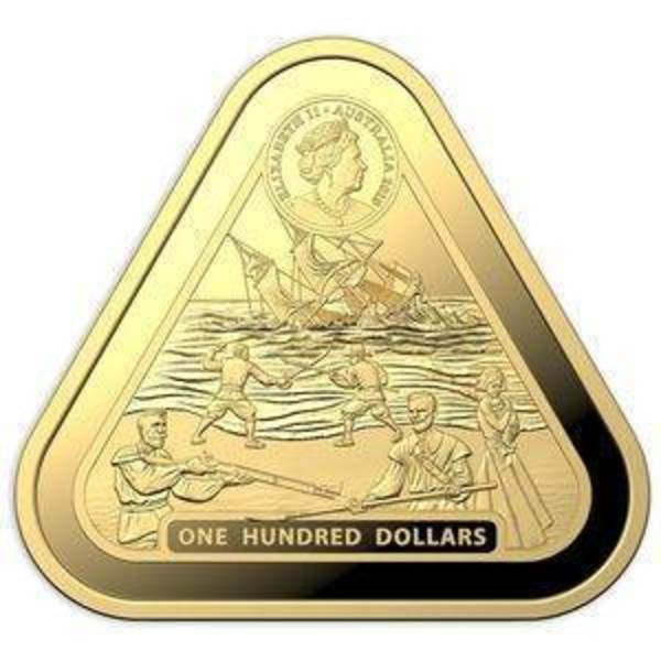 Compare 2019 Australian Shipwreck Batavia Triangle 1 oz Gold Coin prices