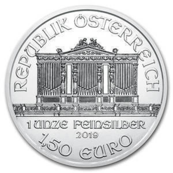 Compare silver prices of 2019 Austria 1 oz Silver Philharmonic