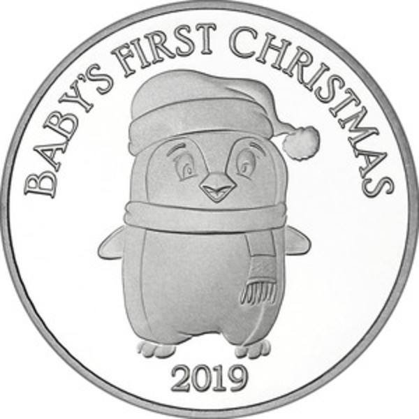 Compare silver prices of 2019 Baby's First Christmas 1 oz Silver Round