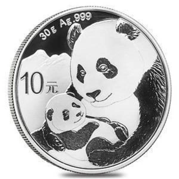 Compare 2019 30 gram Chinese Silver Panda Coin .999 Fine 10 Yuan Brilliant Uncirculated prices
