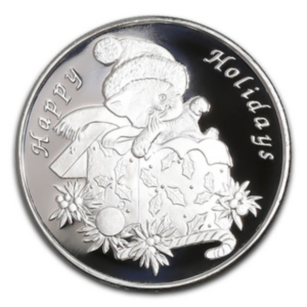 Compare silver prices of 2019 Christmas Kitten 1 oz Silver Round