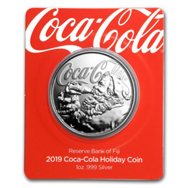 Compare cheapest prices of 2019 Coca-Cola Santa Holiday Silver 1 oz Proof Coin