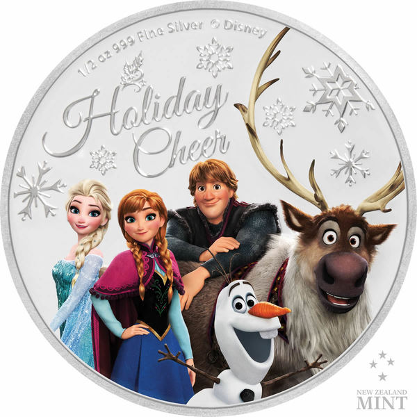 Compare silver prices of 2019 $1 Disney's Frozen Season's Greetings Proof 1/2 oz Silver Coin