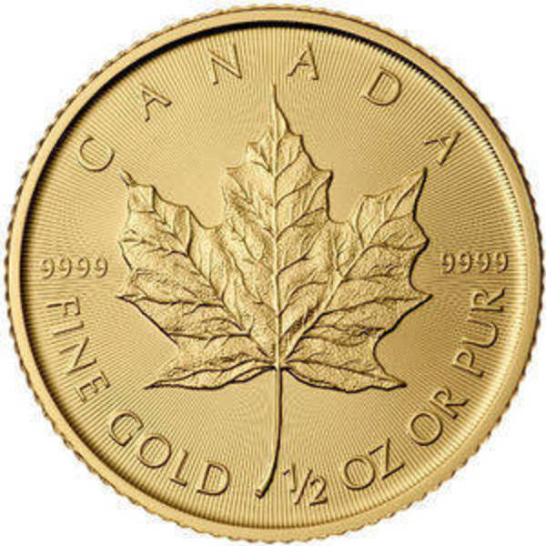 Compare gold prices of 2019 1/2 oz Canadian Gold Maple Leaf Coin