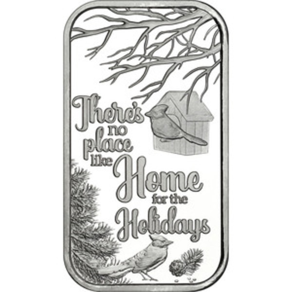 Compare silver prices of 2019 1 oz Silver Bar - No Place Like Home Christmas