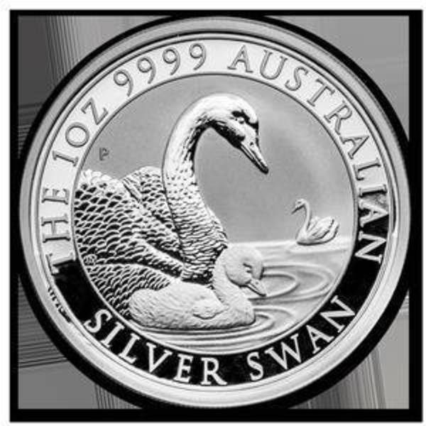 Compare silver prices of 2019 Australia 1 oz Silver Swan BU