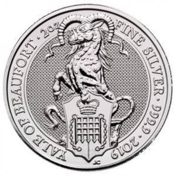 Compare silver prices of 2019 The Yale of Beaufort 2 Oz Silver Coin - Queen's Beasts