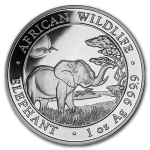 Compare silver prices of 2020 Somalia 1 oz Silver Elephant