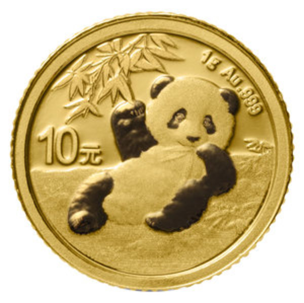 Compare gold prices of 2020 Chinese 1 gram Gold Panda Coin ¥10