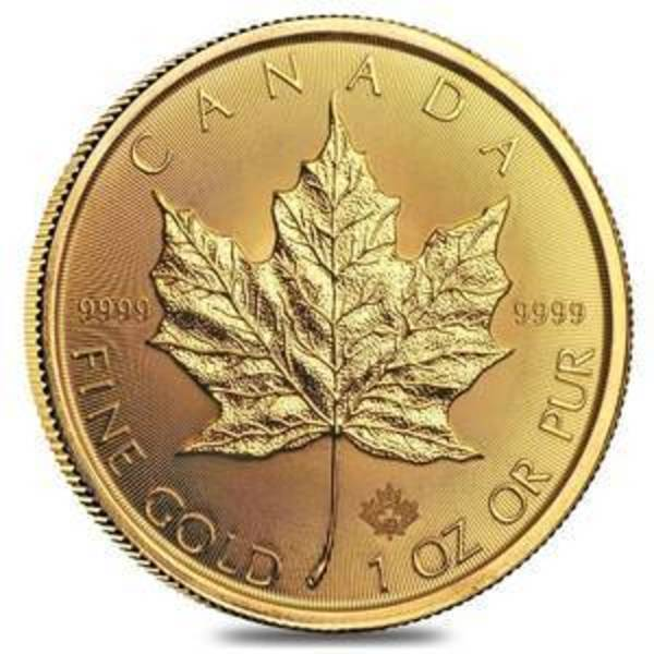 Compare gold prices of 2020 1 oz Canadian Gold Maple Leaf