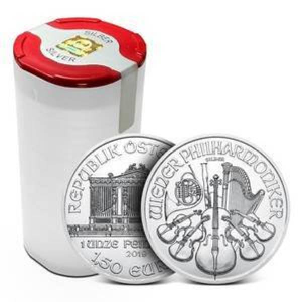 Compare silver prices of 2020 Austrian Silver Philharmonic Coin (Tube of 20)