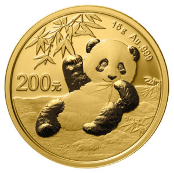 Compare gold prices of 2020 Chinese 15 gram Gold Panda Coin ¥250