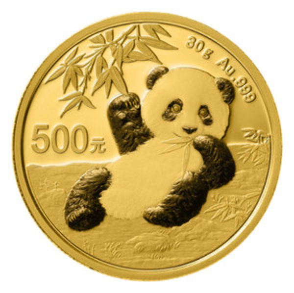 Compare gold prices of 2020 Chinese 30 gram Gold Panda Coin ¥500