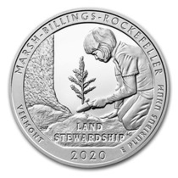 Compare silver prices of 2020 ATB Marsh-Billings-Rockefeller National Historical Park 5 oz Silver Coin