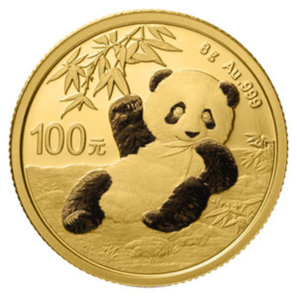Compare gold prices of 2020 Chinese 8 gram Gold Panda Coin ¥100