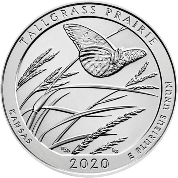 Compare 2020 ATB Tallgrass Prairie National Preserve 5 Oz Silver Coin prices