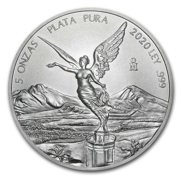 Compare silver prices of 2020 Mexico Libertad 5 oz Silver Coin