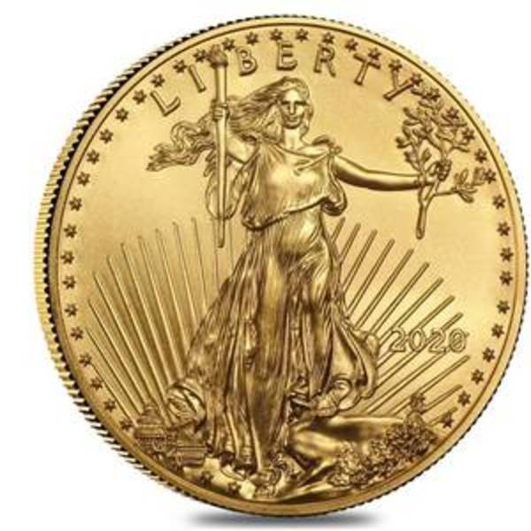 Compare gold prices of 2020 1 oz American Gold Eagle Coin (BU)