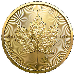 Compare gold prices of 2020 1/10 oz Canadian Gold Maple Leaf Coin