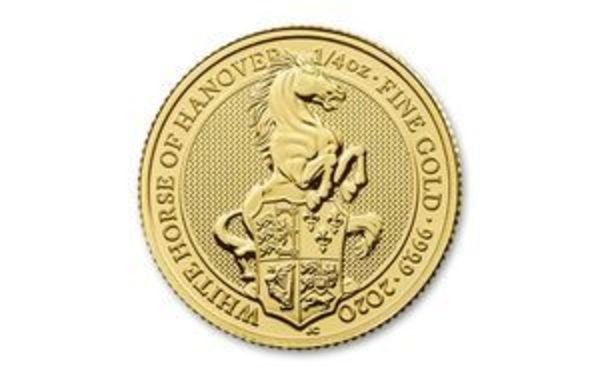 Compare gold prices of 2020 Queen's Beasts - White Horse of Hannover 1/4 oz Gold Coin