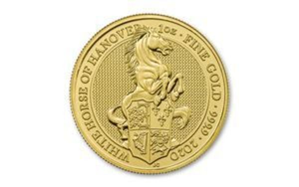 Compare gold prices of 2020 Queen's Beasts - White Horse of Hannover 1 oz Gold Coin