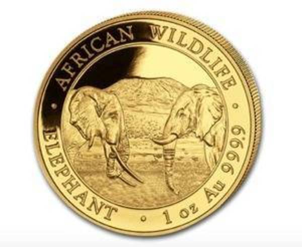 Compare 2020 Somalia 1 oz Gold Elephant Coin prices
