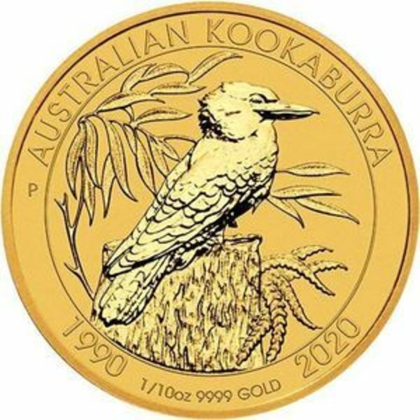 Compare gold prices of 2020 Australia 1/10 oz Gold Kookaburra