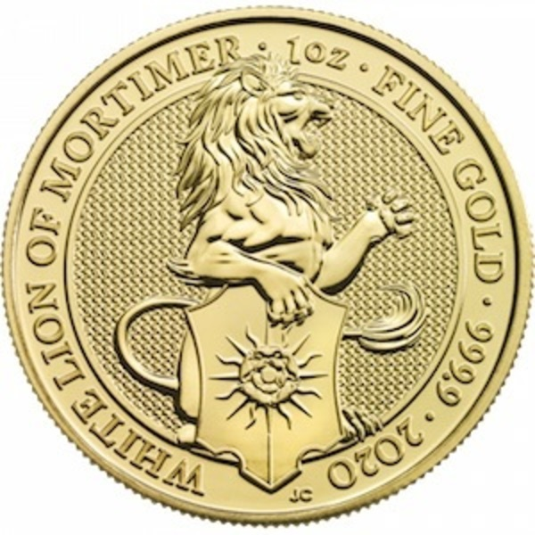 Compare gold prices of 2020 Great Britain 1 oz Gold Queen's Beasts The White Lion
