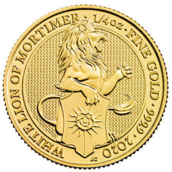 Compare gold prices of 2020 Great Britain 1/4 oz Gold Queen's Beasts The White Lion