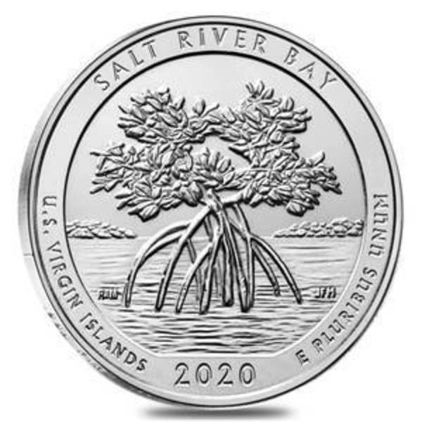 Compare 2020 ATB Salt River Bay US Virgin Islands 5 oz Silver Coin prices