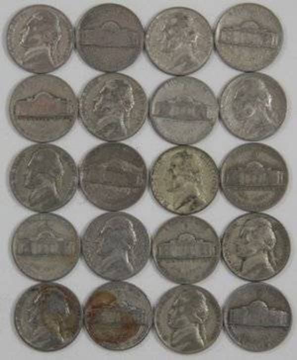Compare silver prices of $1 Face Value - 35% SILVER WAR NICKELS - 20 Coins