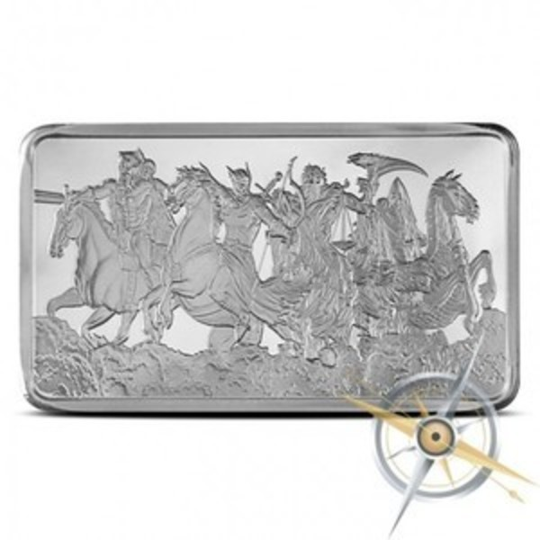 Compare silver prices of Four Horsemen of the Apocalypse 10 oz Silver Bar