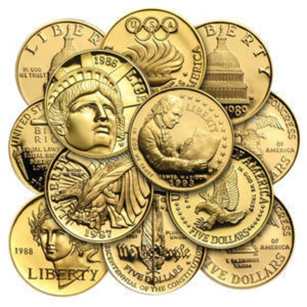 Compare gold prices of $5 Gold Commemorative Coins