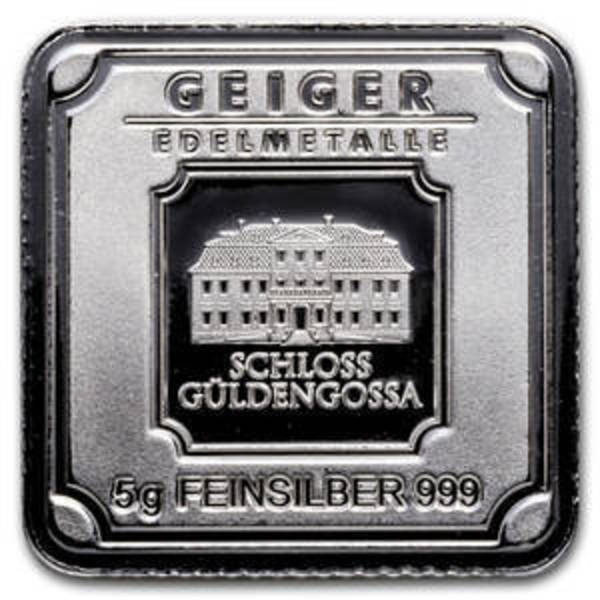 Compare 5 gram Silver Bar - Geiger Edelmetalle (Original Square Series) prices