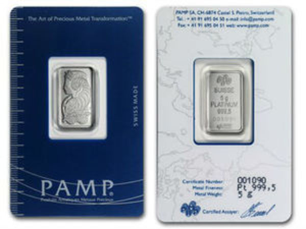 Compare platinum prices of Platinum 5 gram bar